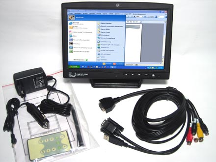 "CTF1020-WC - VGA 10.2"" TFT - Touchscreen USB - Video -  Autodimmer - Audio - Webcam"