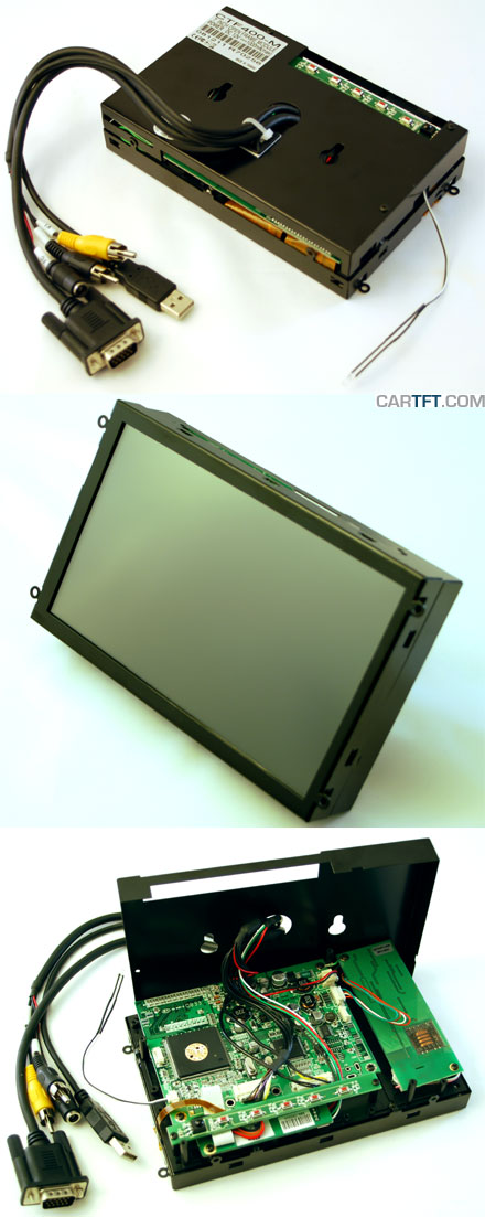 "CTF400<b>-ML</b> - VGA 7"" TFT - Touchscreen USB - Video - <b>OPEN-FRAME (LED Backlight)</b>"