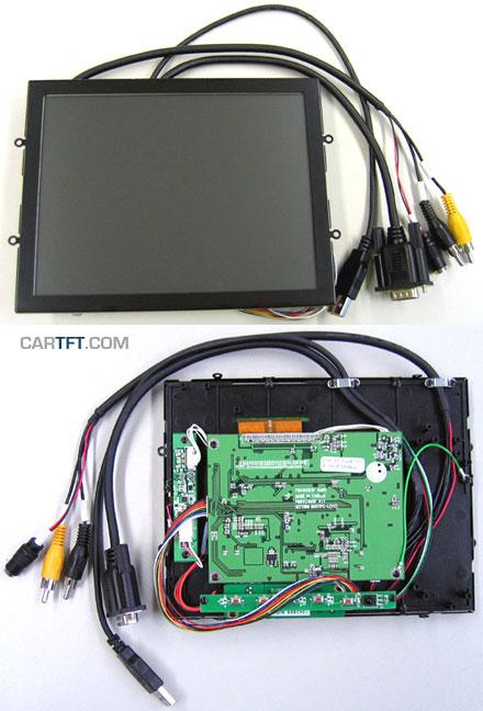 """CTF846-<b>ML</b> - VGA 8.0"""" (4:3) TFT - Touchscreen USB - Video - <b>OPEN-FRAME</b> (<b>600 nits, LED backlight</b>)"""