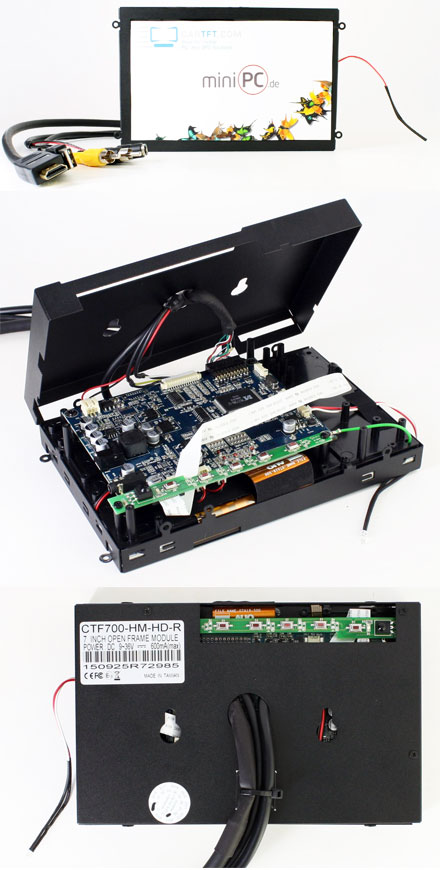 """CTFHD700-<b>HM-M</b> - HDMI 7"""" TFT - Multi-Touchscreen USB - <b>OPEN-FRAME</b> (<b>800nits , TMR-Technology</b>)"""
