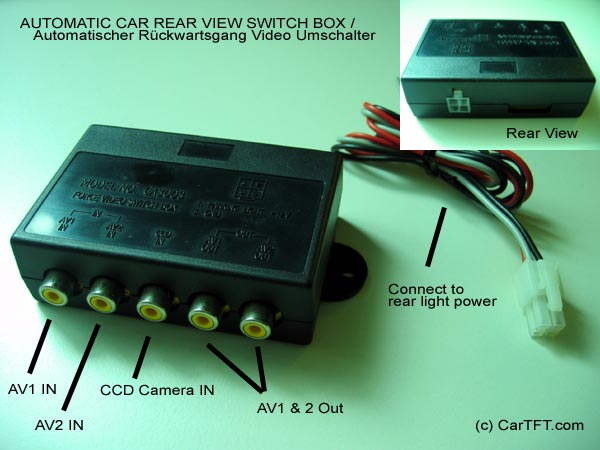 Rear camera view switcher (automatic)