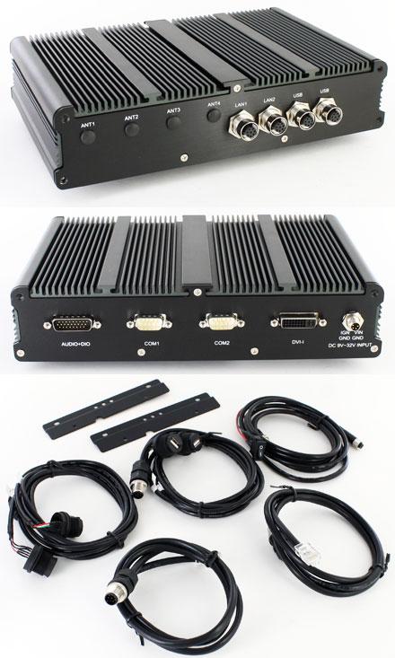 FleetPC-5-IP65 Car-PC (AMD G-T56N 2x1.65Ghz, 2GB RAM, Autostart-Controller, 9-32V Automotive Netzteil, GPS, Waterproof/Dustproof) [<b>FANLESS</b>] <b>[REFURBISHED]</b>