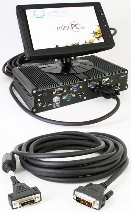 FleetPC-4 / FleetPC-5 / FleetPC-7-B / FleetPC-8 Connector cable for CTFHD-TFT Displays <b>- 5m -</b>