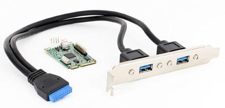 Jetway ADMPEASU3A (Mini-PCIe, 2x USB2.0/3.0)