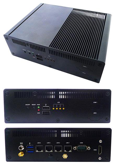 Jetway HBFDF731W-3955-B (Intel Kabylake, 4x LAN, WLAN)
