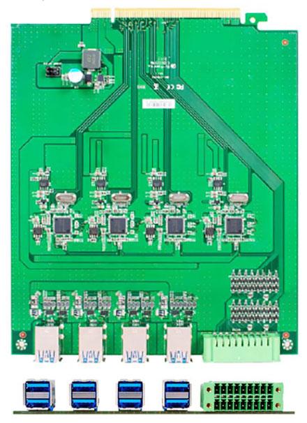 Jetway ADD-ON HM1-USB3.0X8 (8x USB3.0, 1x GPIO) [for HM-1000]