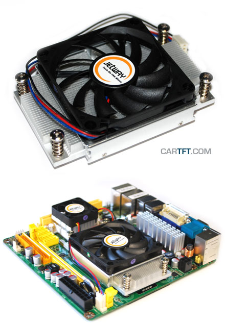 Low Profile heatsink/fan f. Jetway AMD ITX (TDP 45W max)