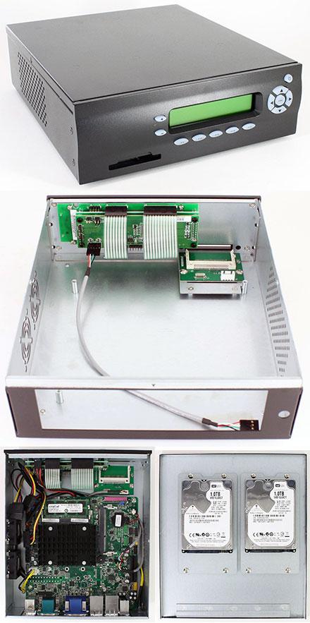 M400-LCD Mini-ITX Appliance enclosure (picoLCD 20x2, CF USB Slot, 2x HDD/SSD)