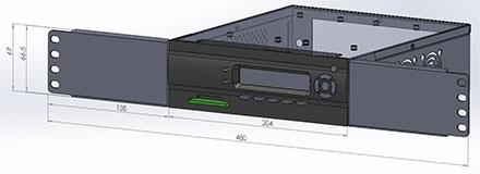 M400-LCD Rackmount adapter