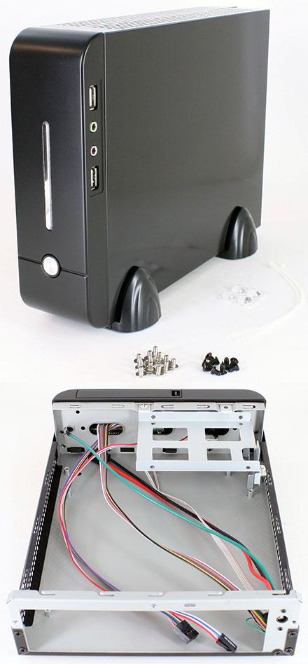 MHero-S-B-PLAIN Mini-ITX enclosure (without PSU)