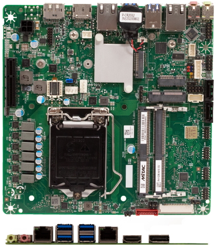 Mitac PH11CMI-H410 Thin-ITX (Intel H410) [12V DC-in]