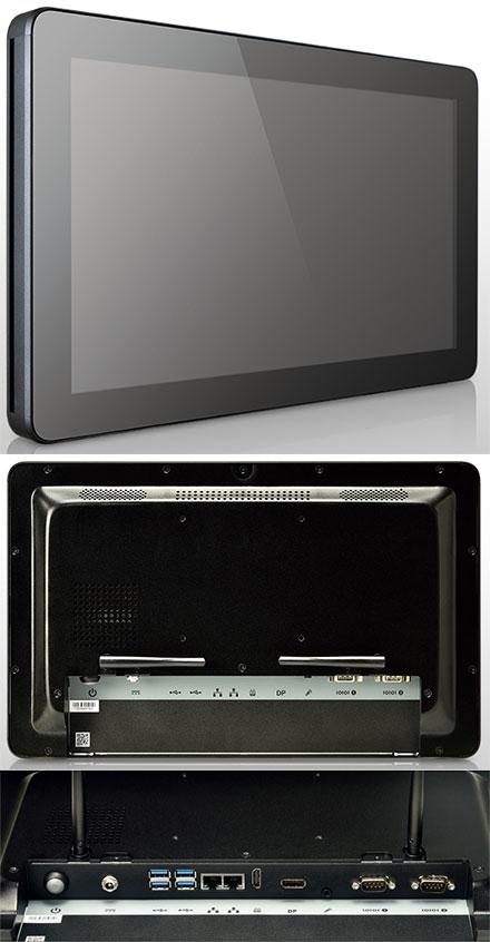 "Mitac D151-11KS [Intel Celeron 3965u] 15.6"" Panel PC (1366x768, Multi-Touchscreen, PD11KS 3.5-SBC Kaby Lake, IP65 Front, Fanless)"