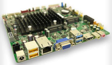Mitac PD10BI (Intel DN2800MT2) Rev.2 Half-Height (Intel Bay Trail Celeron  J1900 4x2.42Ghz CPU, 10-19VDC) [<b>FANLESS</b>]