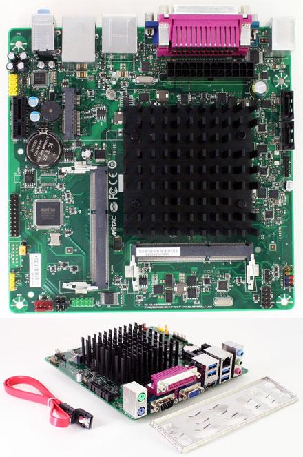 Mitac PD14RI-N3700 (Intel D2500HN2) (Intel Braswell Pentium N3700 4x 2.4Ghz CPU) [<b>FANLESS</b>]