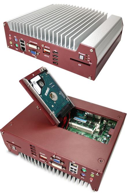 Nuvo-1003B (Intel Core i5 / i7, 3x LAN) [<b>FANLESS</b>]