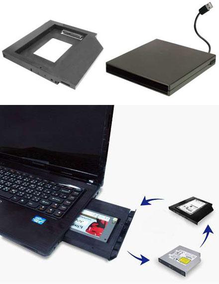 "SLIM-LINE 2.5"" Hot-Swap HDD/SSD bay [SATA(HD)-to-SATA(DVD)]"