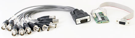 CarTFT VCC-310 Mini-PCIe (4x Video/Audio Capture Card) [with connector system]