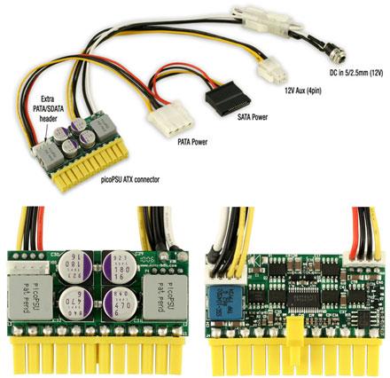picoPSU-160-XT DC/DC PC ATX power supply (Fanless, 24pol, 160 Watt)